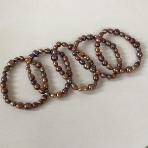 Set of 5 Honora pearl bracelets